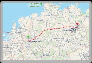 OBOR von Duisburg nach Berlin